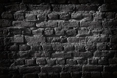 Black Brick Wall. Vignetting added. Great for background Royalty Free Stock Images