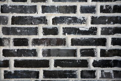 Black brick wall Stock Photos