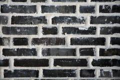 Black brick wall stock photos