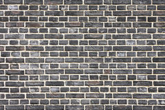 Black brick wall Stock Image