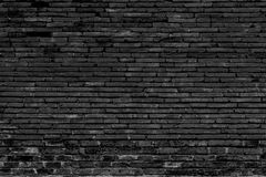 Black brick wall background. Abstract background Royalty Free Stock Photo