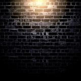 Black brick wall background Royalty Free Stock Photo