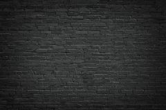 Black brick wall, brickwork background for design. Black brick wall background. texture dark masonry Stock Photo