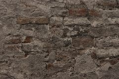 Black brick wall, brickwork background for design stock photography