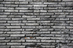 Black brick wall. Closeup of an old black brick wall Stock Images