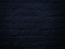 Black brick wall Stock Photography
