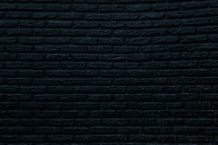 Black Brick Wall. Front view of the textured black brick wall Stock Photos