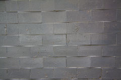 Black Brick wall -new Stock Photography