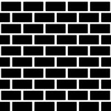 Black brick wall seamless pattern. Simple building Royalty Free Stock Photos