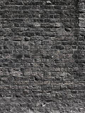 Black brick wall texture Royalty Free Stock Photos