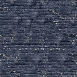 Black Brick Wall Texture. Royalty Free Stock Images