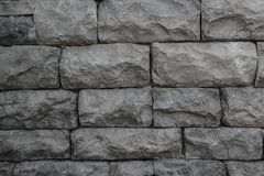 BLACK BRICK WALL. Texture for background Royalty Free Stock Images