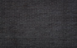Black brick wall texture. Background with copy space Stock Photo
