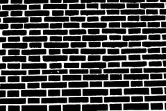 Black brick wall texture background old rough masonry Royalty Free Stock Photo