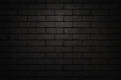 Black brick wall texture Stock Photos