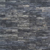 black brick wall texture. stonewall pattern design for decorated Royalty Free Stock Photo