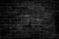 Bricks. Black brick wall with vignette Royalty Free Stock Image