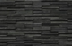 Black Bricks slate texture background, slate stone wall texture Royalty Free Stock Image