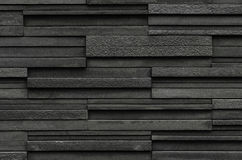 Black bricks slate texture background, slate stone wall texture Royalty Free Stock Photography