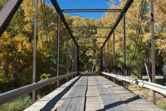 Black Bridge. Over the North Fork of the Gunnison River near Paonia, Colorado Royalty Free Stock Image
