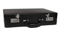 Black briefcase Stock Photography