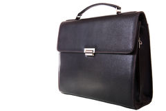 Black briefcase Stock Images