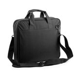 Black briefcase. On a white background stock images