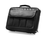 Black briefcase. View of black briefcase Stock Photos