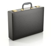 Black Briefcase. Black men briefcase on white background - 3D illustration Royalty Free Stock Photography