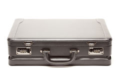 Black Briefcase & Dollar Corner Exposed on White Stock Photography