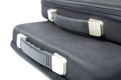 Black briefcase overlapping. Stock Image