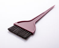 Black bristled paint brush Stock Photo