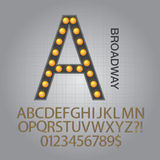 Black Broadway Alphabet and Numbers Vector. Set of Black Broadway Alphabet and Numbers Vector Royalty Free Stock Photography