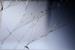 Black broken smartphone screen close up Royalty Free Stock Image