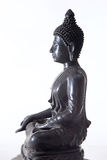 Black bronze Buddha statue Stock Photography