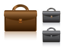 Black and brown briefcase Royalty Free Stock Photos