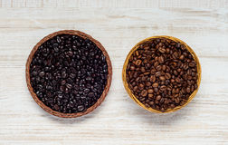 Black and Brown Coffee Beans Stock Photography