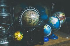 Black and Brown Desk Globe Royalty Free Stock Image
