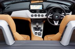 Black, Brown, and Gray Bmw Car Interior View Royalty Free Stock Image