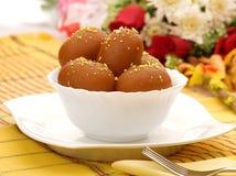 Brown Gulab Jamans Royalty Free Stock Image