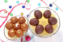 Black and Brown Gulab Jamans Stock Photos