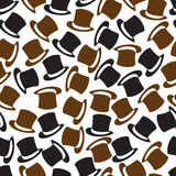 Black and brown hat pattern eps10 Royalty Free Stock Image