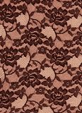 Black Brown Lace Roses Fabric Background. Black brown lace for background texture. Fabric is a rose floral elegant pattern Royalty Free Stock Photo