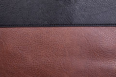 Black And Brown Leather Background Royalty Free Stock Photography