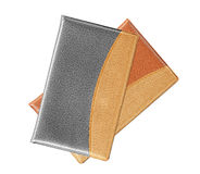 Black and brown notebook on white Royalty Free Stock Images