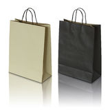 Black and brown paper bag Stock Photo