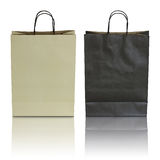 Black and brown paper bag Royalty Free Stock Photo