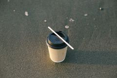 Black and Brown Paper Cup royalty free stock photos