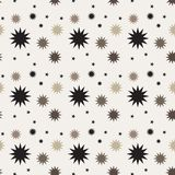 Black brown shade mix star shape pattern background Royalty Free Stock Image