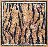 Black and brown tiger rug Stock Photography
